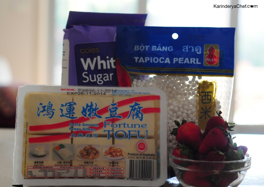 Ingredients for Strawberry Taho